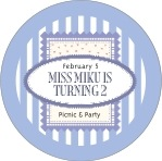 Candystripes circle labels