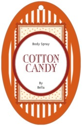Candystripes large oval hang tags