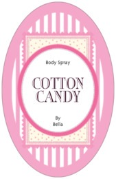 Candystripes tall oval labels