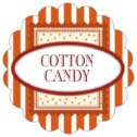 Candystripes scallop labels