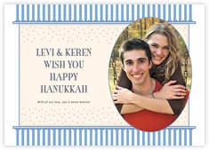 Candystripes Photo Cards - Horizontal In Blue