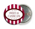 Candystripes pin back buttons