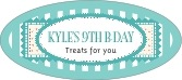 Candystripes oval labels