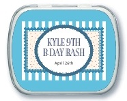 Candystripes kid/teen birthday mint tins