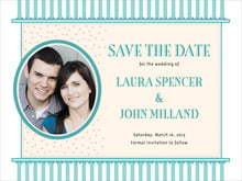 custom save-the-date cards - aruba - candystripes (set of 10)
