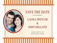 custom save-the-date cards - spice - candystripes (set of 10)
