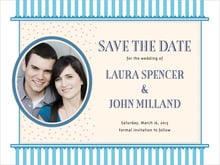 custom save-the-date cards - sky - candystripes (set of 10)