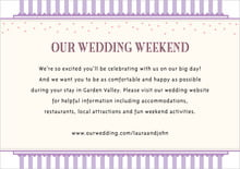 custom enclosure cards - lilac - candystripes (set of 10)