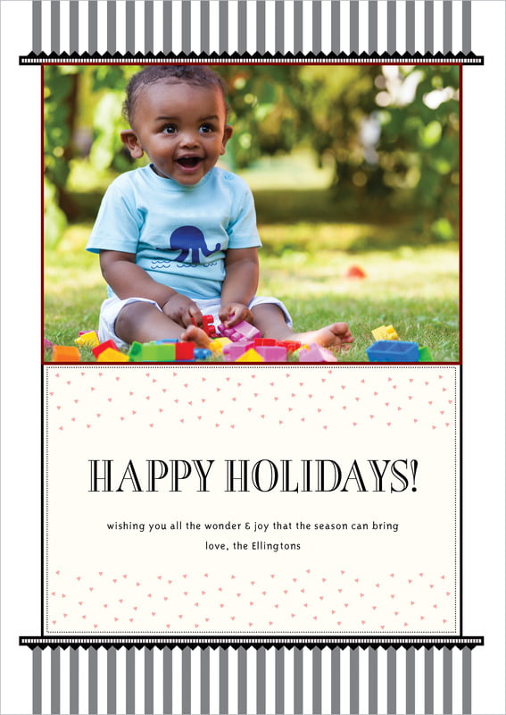 holiday cards - tuxedo - candystripes (set of 10)