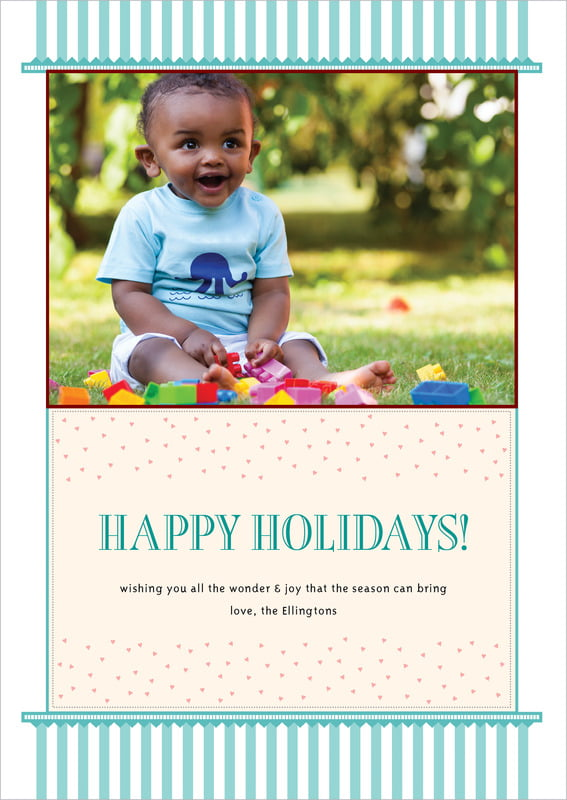 holiday cards - aruba - candystripes (set of 10)