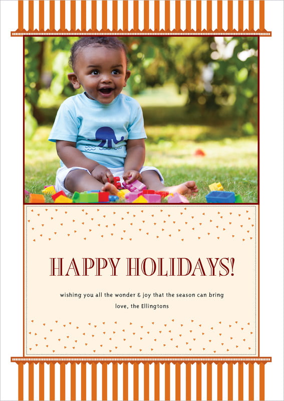 holiday cards - spice - candystripes (set of 10)