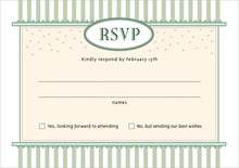 custom response cards - sage - candystripes (set of 10)