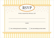 custom response cards - sunburst - candystripes (set of 10)