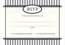 custom response cards - tuxedo - candystripes (set of 10)