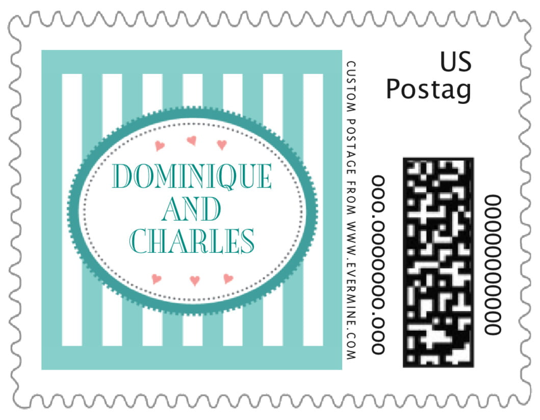 small custom postage stamps - aruba - candystripes (set of 20)