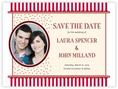 Candystripes save the date cards