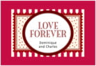 Candystripes holiday labels