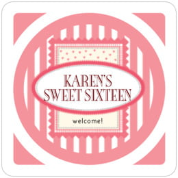 Candystripes square coasters