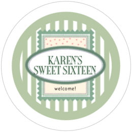 Candystripes round coasters