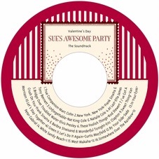 Candystripes valentine's day CD/DVD labels