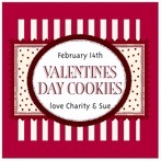 Candystripes valentine's day labels