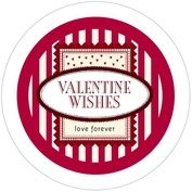 Candystripes valentine's day coasters