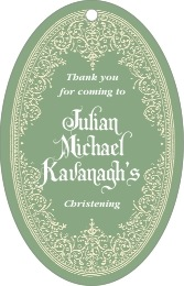 Casablanca large oval hang tags