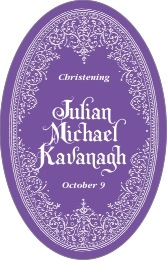 Casablanca tall oval labels