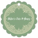 Casablanca scallop hang tags