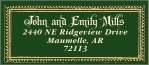 Casablanca Designer Address Label In Deep Green
