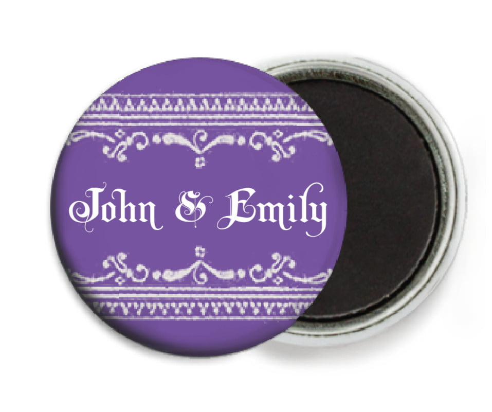 custom button magnets - lilac - casablanca (set of 6)