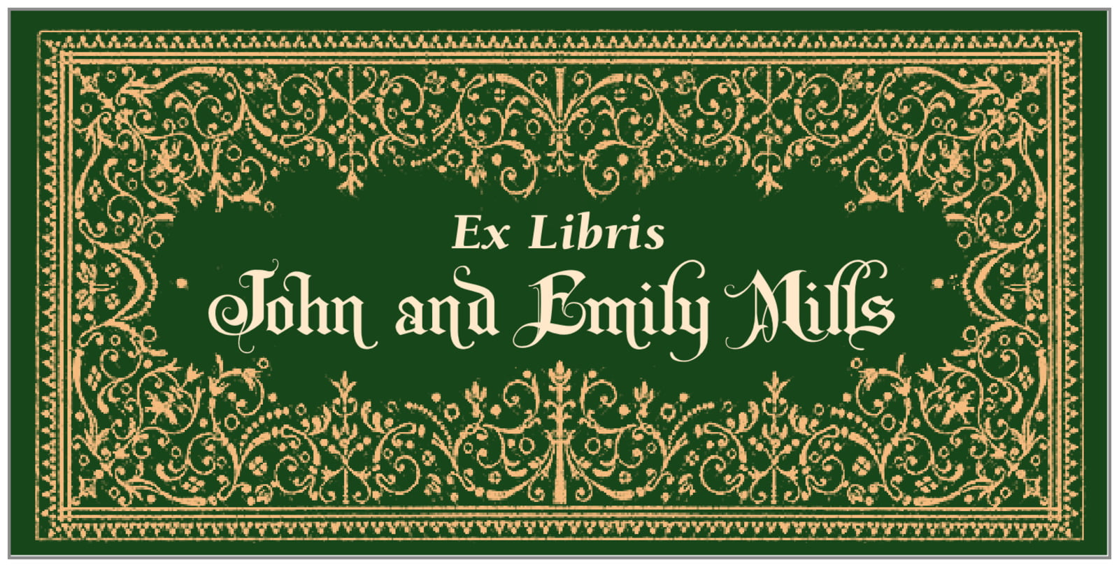 bookplates for everyone - deep green - casablanca (set of 24)