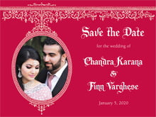 custom save-the-date cards - deep red - casablanca (set of 10)