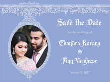 custom save-the-date cards - periwinkle - casablanca (set of 10)