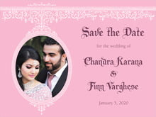 custom save-the-date cards - pale pink - casablanca (set of 10)