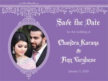 custom save-the-date cards - lilac - casablanca (set of 10)