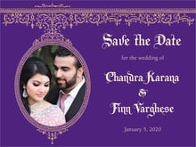 custom save-the-date cards - plum - casablanca (set of 10)