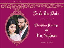 custom save-the-date cards - burgundy - casablanca (set of 10)