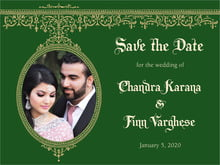 custom save-the-date cards - deep green - casablanca (set of 10)