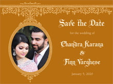 custom save-the-date cards - golden brown - casablanca (set of 10)