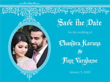 custom save-the-date cards - sky - casablanca (set of 10)