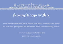 custom enclosure cards - periwinkle - casablanca (set of 10)