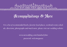 custom enclosure cards - lilac - casablanca (set of 10)
