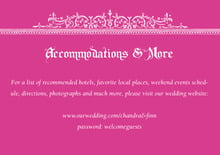 custom enclosure cards - bright pink - casablanca (set of 10)