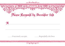 custom response cards - deep red - casablanca (set of 10)