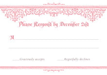 custom response cards - grapefruit - casablanca (set of 10)