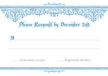 custom response cards - blue - casablanca (set of 10)