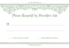 custom response cards - sage - casablanca (set of 10)