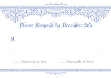 custom response cards - periwinkle - casablanca (set of 10)