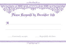 custom response cards - lilac - casablanca (set of 10)